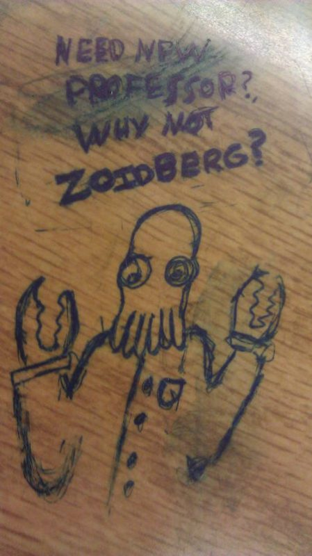 desk art zoidberg